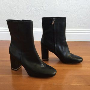 Michael Kors Black Boots with Silver Detail